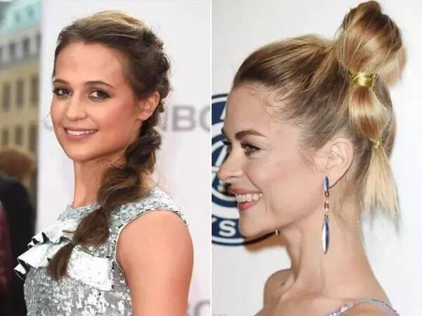 拧出来的马尾 在发型上我们总是想有更多的变化,即使是简单的马尾辫也是如此。头发是最容易打理出不同效果的东西,它柔软并且富于变化力。拧转马尾其实就是将头发当成是绳子,两股粗绳相互拧转在一起形成编发的效果。 拧转的方式其实与马尾串儿的效果非常的类似,都是利用头发的柔软进行缠绕和重塑来塑造出的结构感。