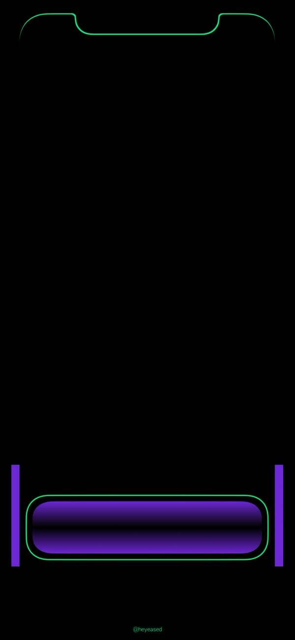 壁纸|iphone x跑马灯边框纯黑壁纸