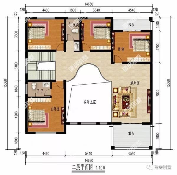 6×15.3米两层别墅,客厅挑空配堂屋,只要28万图片