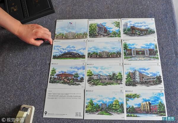 2018年6月21日,《遇见沈农》手绘校园景色明信片,在沈阳农业大学毕业