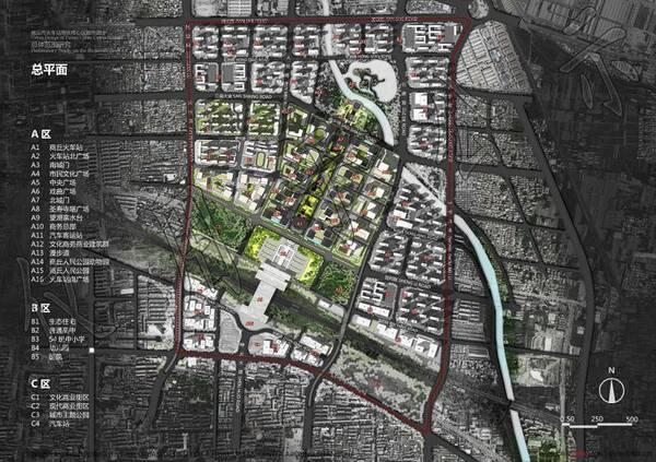 商丘市cbd,火车站高铁核心区城市设计方案