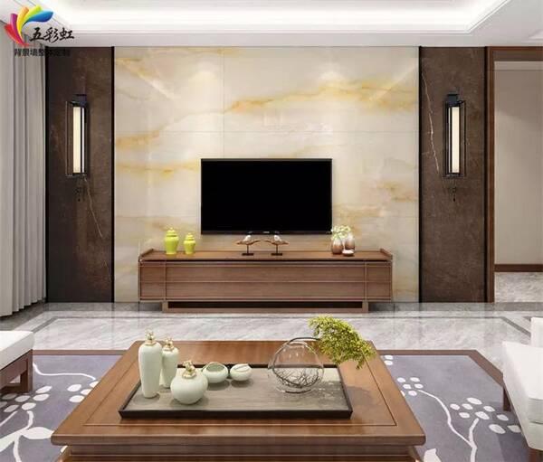 8,现代简约轻奢风格客厅电视背景墙装修效果图