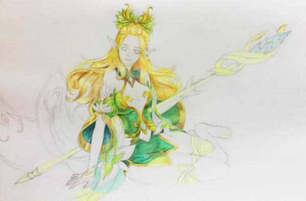 手绘教程分享----王者荣耀人物|精灵公主王昭君