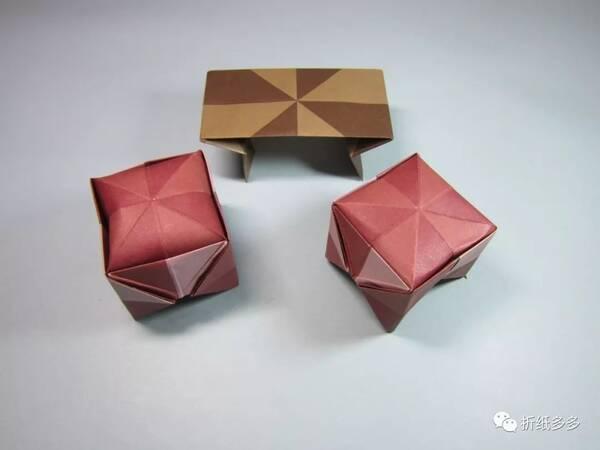 怎样折纸凳子,简单一学就会的小板凳折法教程
