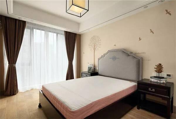 183㎡新中式装修,亮点都在背景墙上,很漂亮!