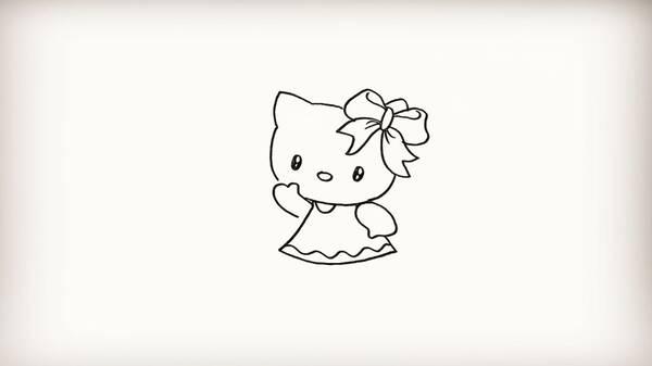 简笔画-hello kitty