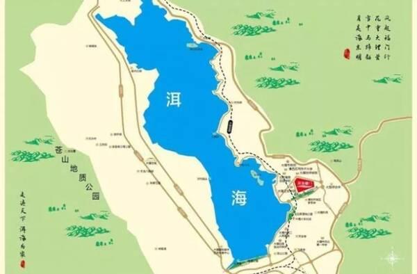 大理满江开发区规划图