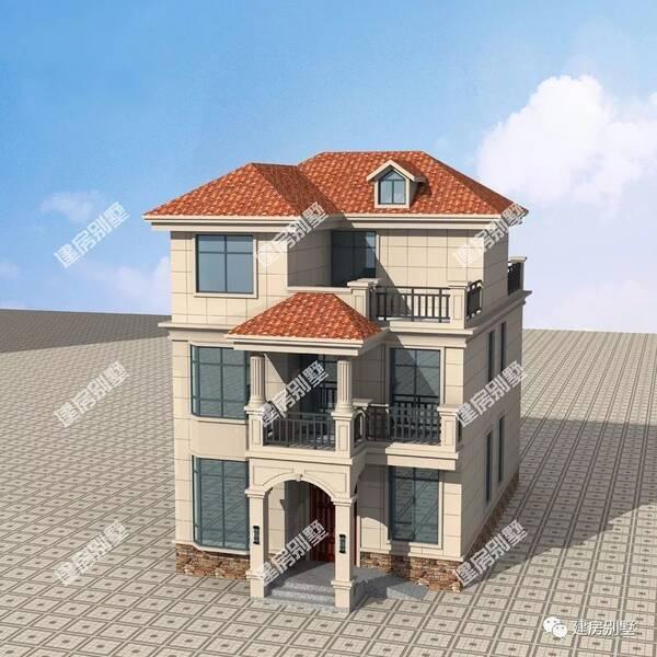 农村七字型宅基地房子大门设计 数学图片
