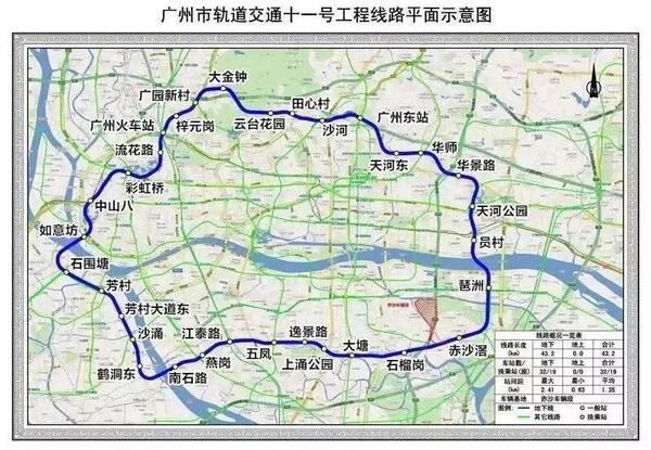 广州地铁半年进度:14号线最给力,21号线进步最多!沿线图片