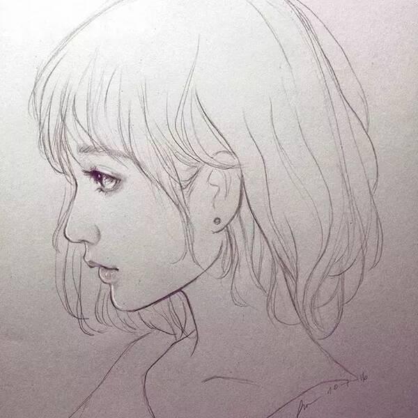 手绘-小姐姐教你用铅笔画小姐姐