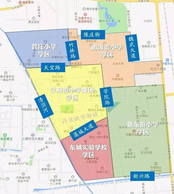 许昌市东城区规划图 许昌2030规划图效果图