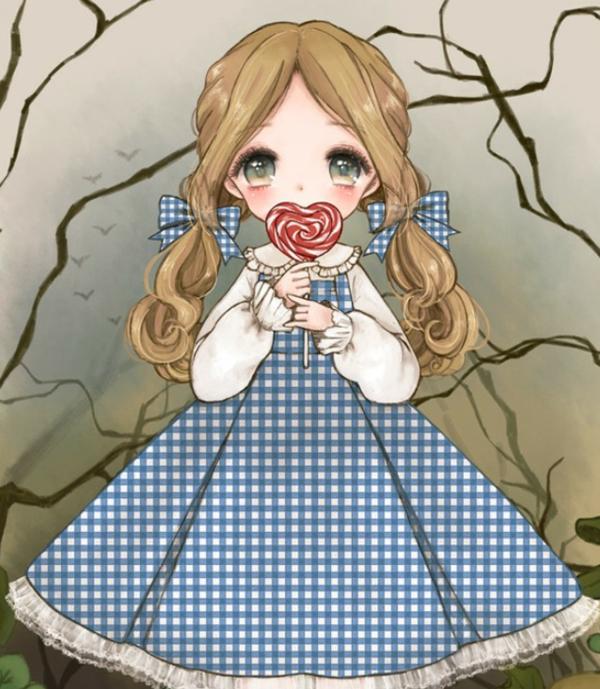 萌萌哒手绘动漫人物美图图集!小清新的女生最美了!