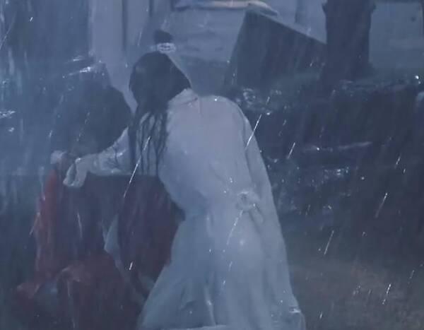 佛莲恨咬扶摇,扶摇黑化剑指无极,雨中捶打胸膛,虐戏