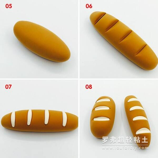 罗弗超轻粘土面包和香蕉制作图解