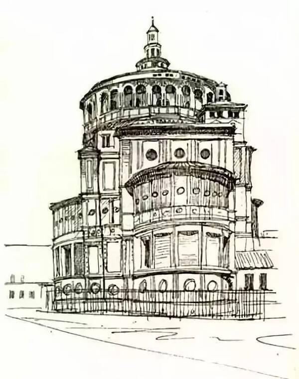 梁思成建筑手绘 一个理工男的绘画功底竟如此优秀,梁的大部分手稿不