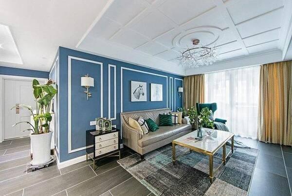 美式轻奢住宅,文艺范十足,给人视觉和触觉上的双重图片