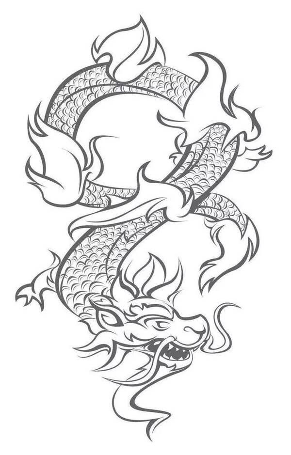 中国彩墨龙的画法步骤 工笔龙的简笔画教程