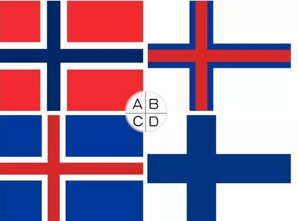 01,以下哪面是冰岛国旗?