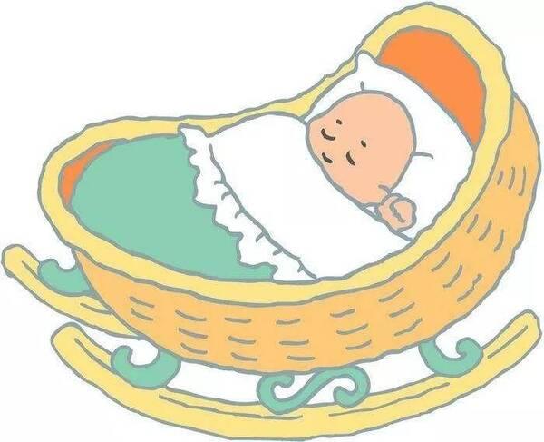宝宝摇篮矢量图