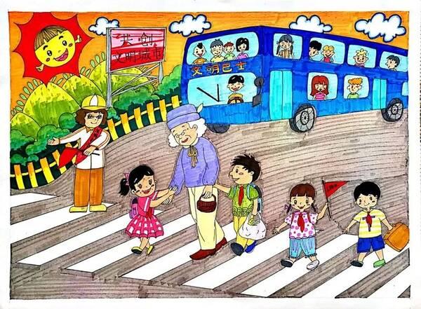 """围绕""""眼中的文明事""""这一主题,以我们常见的扶老奶奶过马路,小学生有"""
