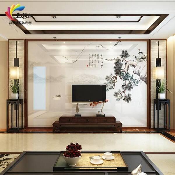 新中式雅致装修,客厅电视背景墙不同造型!图片