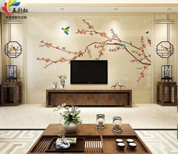 更有档次的选择,新中式高级石材雕刻电视背景墙!图片