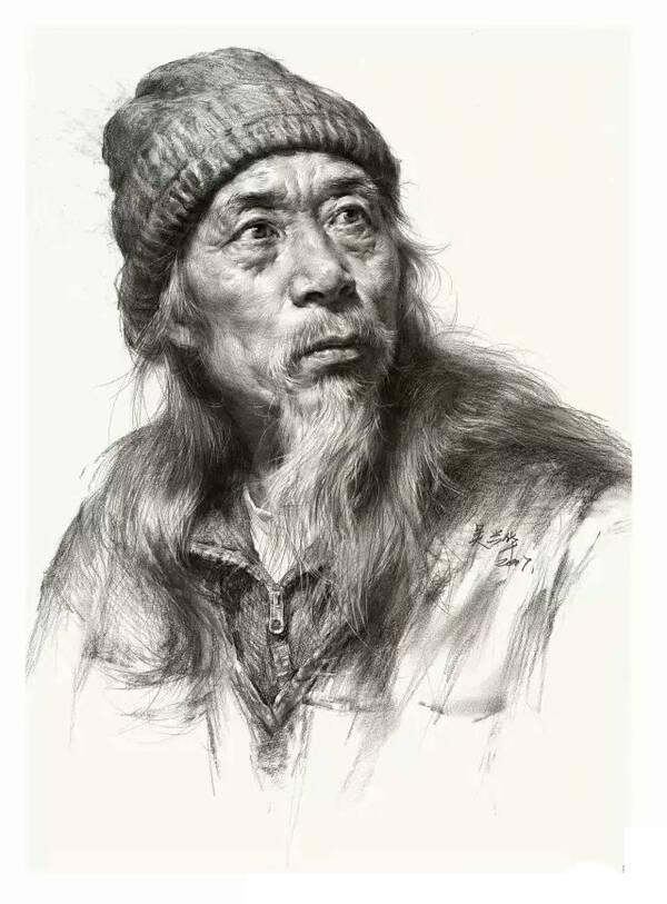 [艺伴干货] 全面解析,正确画老年人素描头像的步