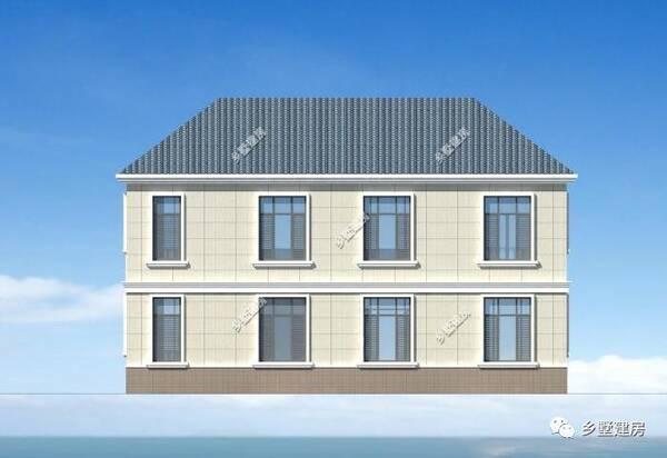 本款户型属欧式风格别墅,采用洁白的真石漆做装饰,耐热耐脏,简洁清爽