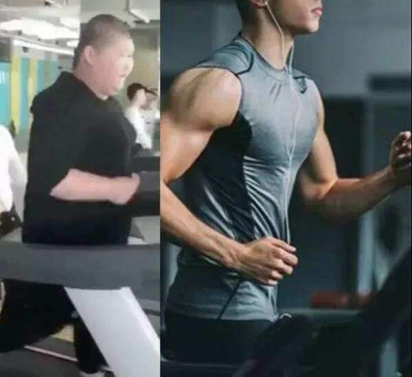 10张二胖听说跑步特别减肥于是他就去健身房每天在跑步机上跑步太吗饿能晚上玉米减肥吃图片