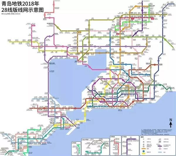 如果你研究过青岛的交通轨道规划, 就会发现几乎整个青岛都在地铁的