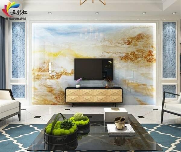 石材边框造型电视背景墙,2018年电视背景墙装修潮流!