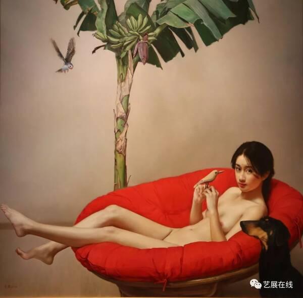 李贵君《红玫瑰》布面油画 200×180cm  2015-2018年