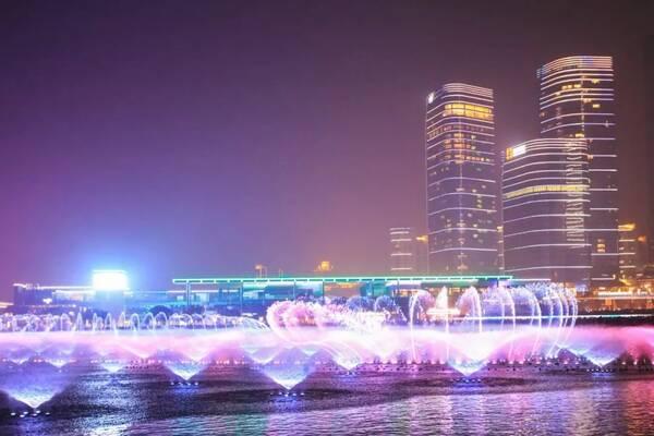 苏州湾音乐喷泉8月开放时间表,金鸡湖音乐喷泉再等一图片
