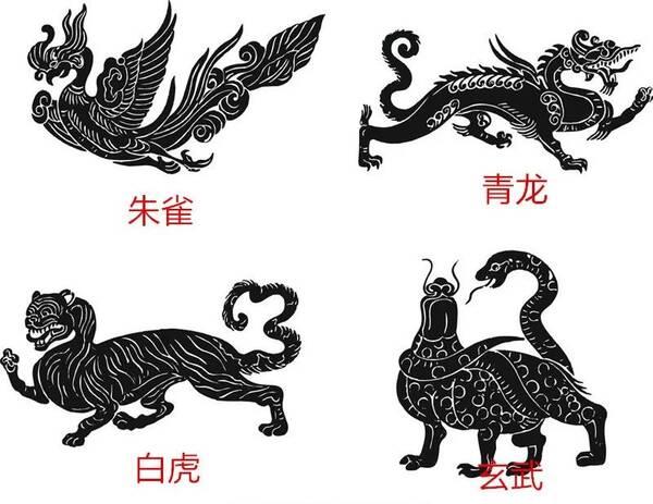 易经看风水:左青龙,右白虎,前朱雀,后玄武