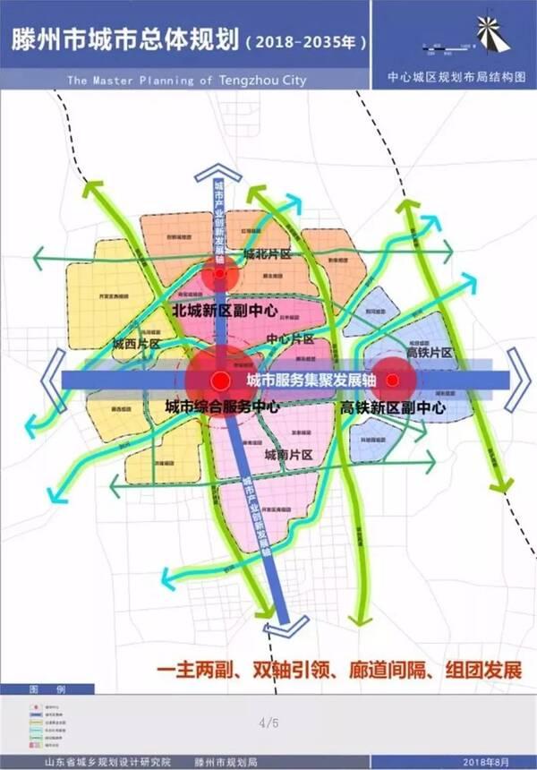 滕州最新城市规划显示:未来向东向北发展,明确五大