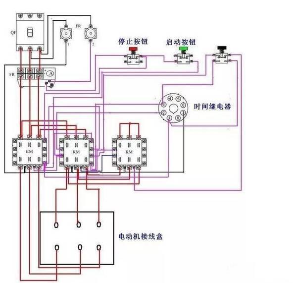 工业电气|时间继电器怎看图接线?这是星三角接触器