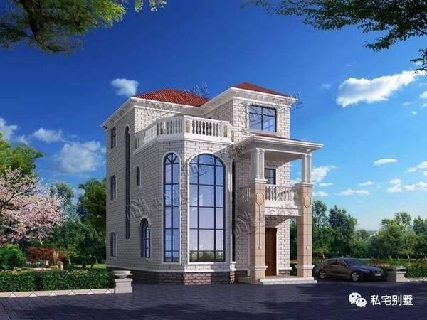 两层半欧式复式楼中楼农村自建房别墅,11.3x8.4米造价