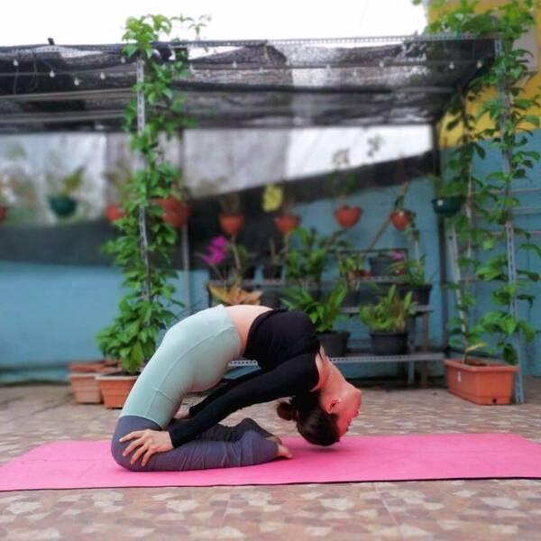 美好的一天,从练习瑜伽开始,好心态练出来图片