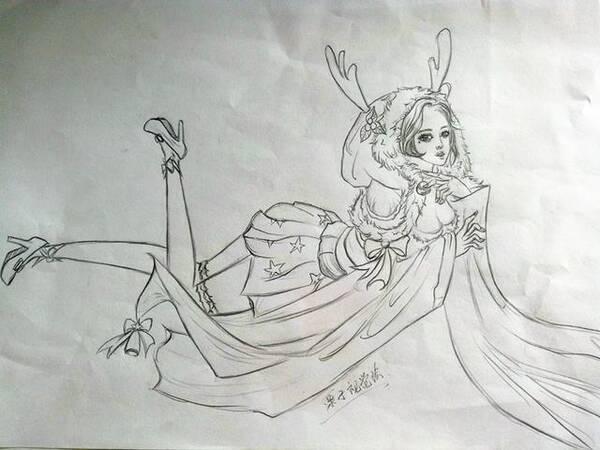 王者荣耀凯简笔画过程