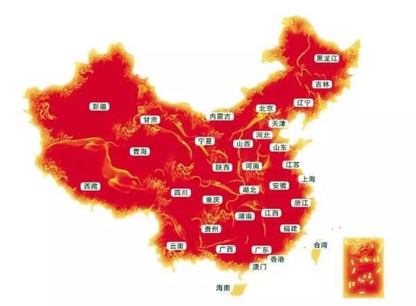 而吃货眼中的中国地图却是这样