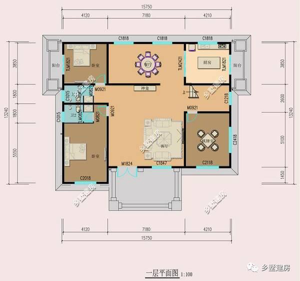 下面是别墅内部结构图