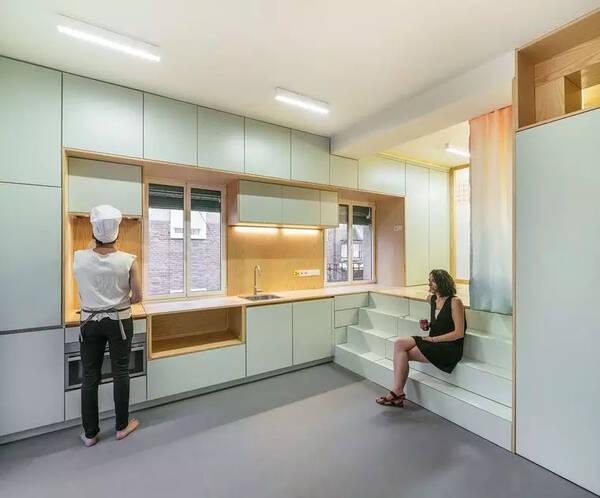 Pocket公寓室内设计案例绘制,小边界空间双层解析户型pm图片