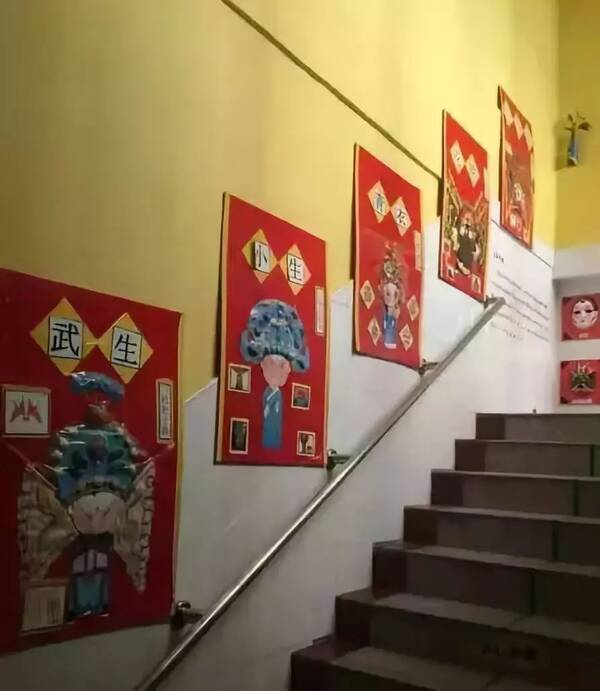 秋季期幼儿园走廊,楼梯手工环创布置,太棒了!