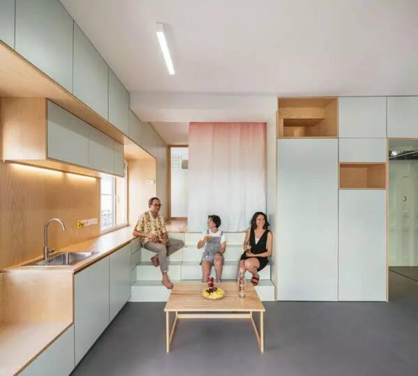 Pocket空间室内设计公寓解析,小户型别墅农村50平方米案例双层设计图图片