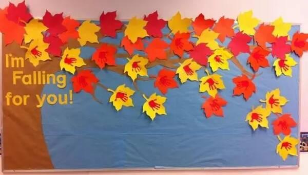 秋季创意主题墙 老师们,班里的秋季主题墙做了吗?