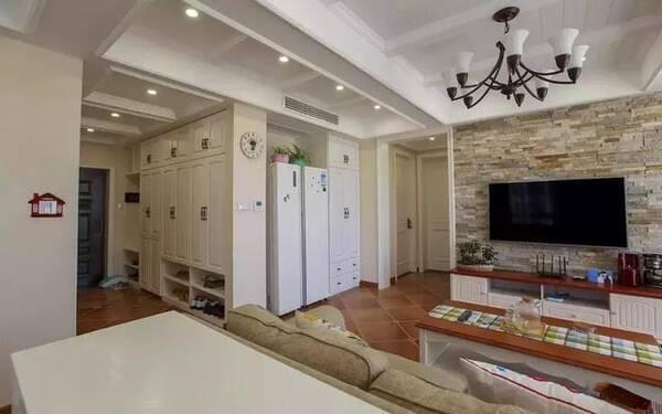 112平休闲美式,冰箱放客厅,洗衣机放卧室阳台!图片