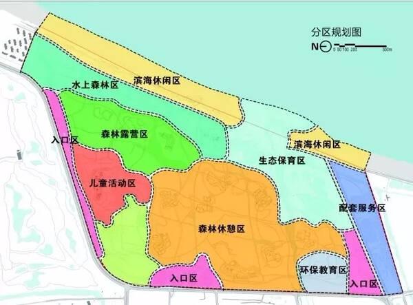 分区规划图.来源:青岛西海岸发布