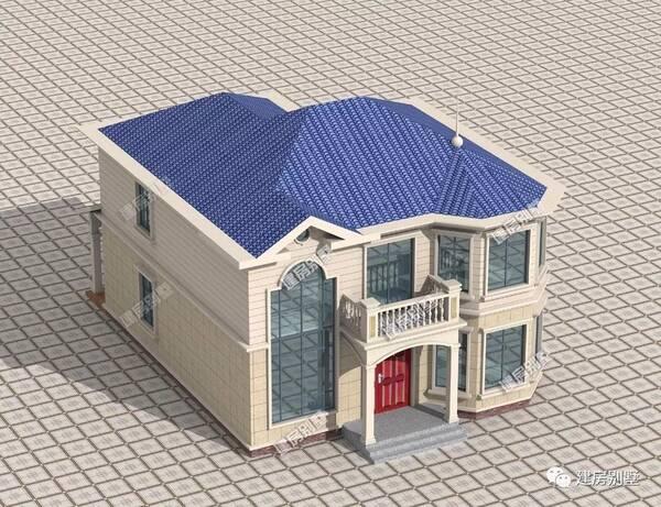 屋顶说明:覆盖一层蓝色琉璃瓦装饰,屋面是用混凝土现浇的.