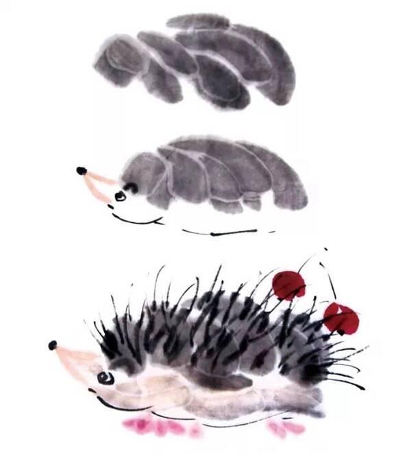 俏皮的国画小动物画法,太简单了!