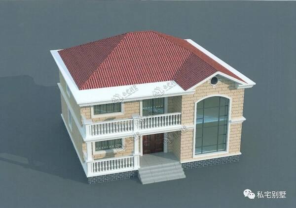 两款适合农村自建房两层欧式别墅,土建造价都在20万